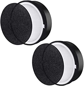 Yonice 2 Pack Air Purifier & 2 Pack Carbon Booster Filters Replacement for LEVOIT LV-H132