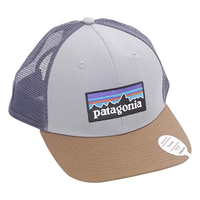 1c46b0df839 Amazon.com  Patagonia P6 Trucker Hat (Drifter Grey w Coriander ...