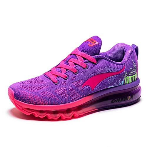 d22c3d73c24b ONEMIX Womens Air Cushion Outdoor Sport Running Shoes Lightweight Casual  Sneakers Purple Red US 7 Foot Length 9.84in 40EUR  Amazon.in  Shoes    Handbags