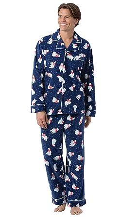 b15b623467 PajamaGram Pajamas Set for Men - Fleece Men Christmas Pajamas