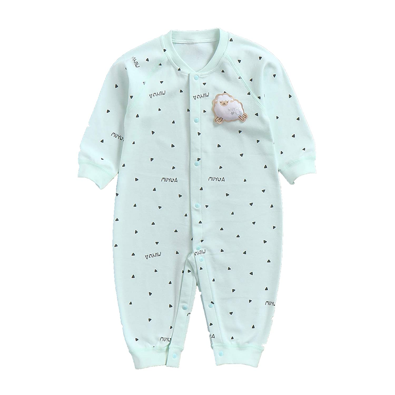 6bb093a4a83 Amazon.com  MuYwa Footless Pajamas Baby Sleeper Cotton Kids   Toddler Pjs  Snap Sleep and Play Onesies Unisex  Clothing