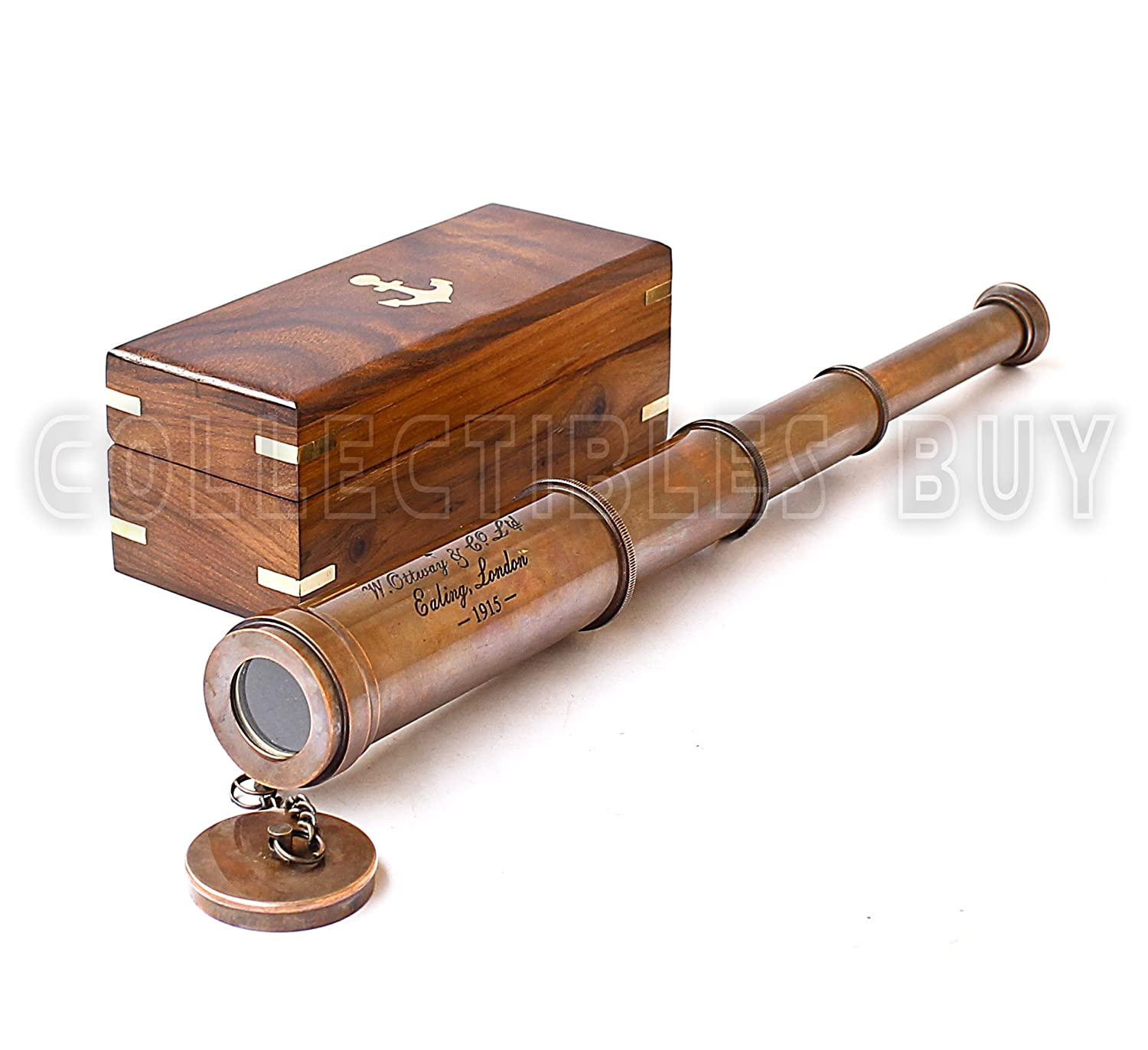 Maritime 1915 Marine Maritime Victorian Brass Vintage Solid Style Telescope Antique Gift Other Maritime Antiques