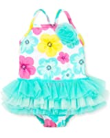 Little Me Baby-Girls Hibiscus Tutu One Piece Swimsuit