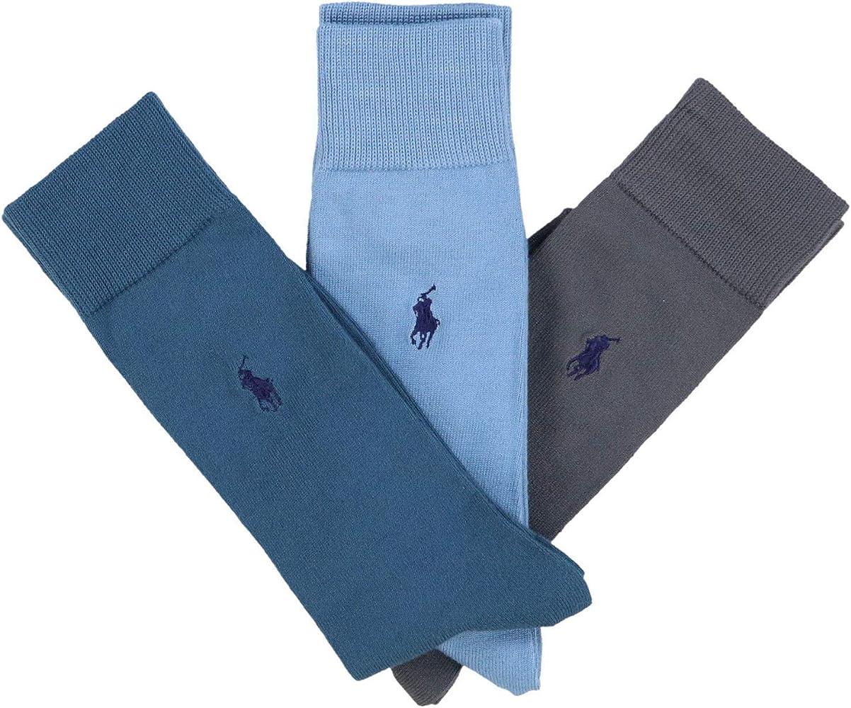 Polo Ralph Lauren 3 pares de calcetines de vestir, para hombre ...
