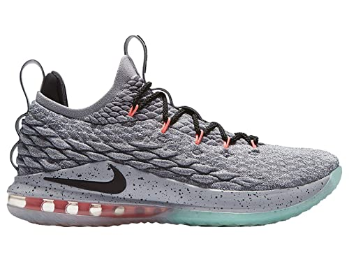 b7c296e4ce53 Nike Men s Lebron 15 Low Basketball Shoes (Grey Black Teal