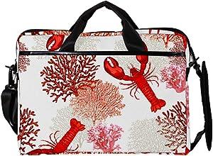 Tropical Marine Lobster Anchor Corals Laptop Messenger Bag Zipper Notebook Computer Sleeve Case Compatible 14-15.4 Inch Laptop