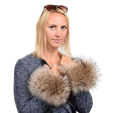 Damen-accessoires Der Neue Winter Frauen Schal Echt Echte Qualität Waschbär Fuchspelz Manschetten Manschette