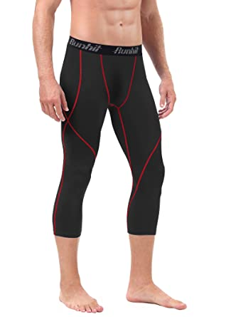 6869115511093a Amazon.com: Runhit Mens 3/4 Compression Leggings Pants Capri Shorts Baselayer  Cool Dry Sport Tights: Clothing