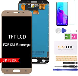 SRJTEK for Samsung Galaxy J3 SM-J327AZ Screen Replacement, LCD Display for Amp Prime 2 SM-J327AZ Express 327A Eclipse SM-J327VPP Emerge SM-J327P SM-J327T SM-J327R4 Touch Digitizer Glass Assembly Kits