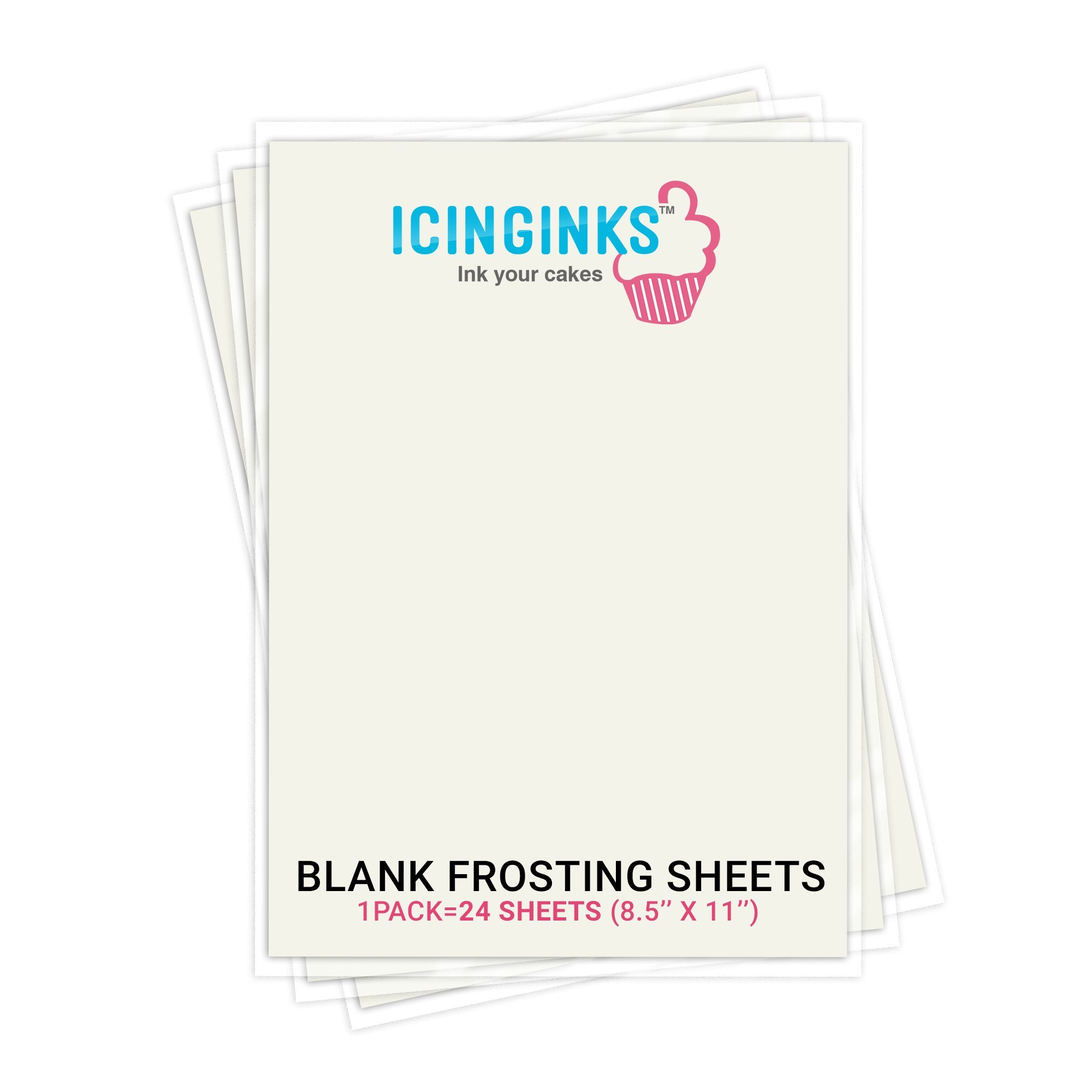 Premium Edible Frosting Sheets, Sugar Sheets, Icing sheets 24 count (8.5'' X 11'') A4 Edible Paper for cake printers