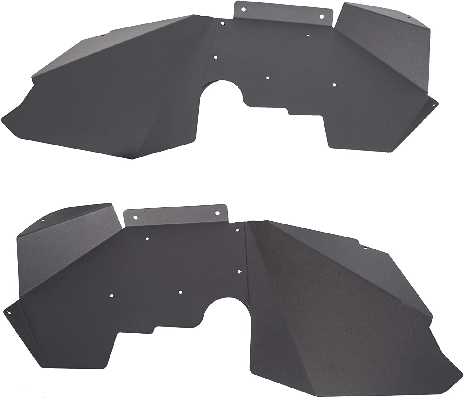 HECASA Aluminum Matte Black Heavy Duty Front Inner Fender Liners Compatible with 2007-2017 Jeep Wrangler JK 4WD