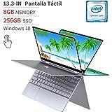 "BMAX Y13 2 en 1 Ordenador portátil, táctil Convertible Notebook de 13.3"" FHD 1080P Pantalla (Intel Quad Core N4120, 8GB RAM, 256GB SSD, Windows 10 Home)"