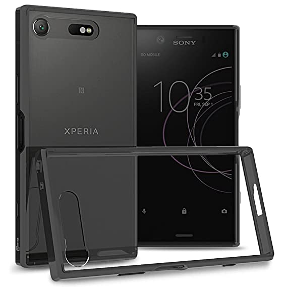 the best attitude 8b030 d7ac4 Sony Xperia XZ1 Compact Case, CoverON ClearGuard Series Hard Slim Fit Phone  Cover with Clear Back and Flexible TPU Bumpers for Sony Xperia XZ1 Compact  ...