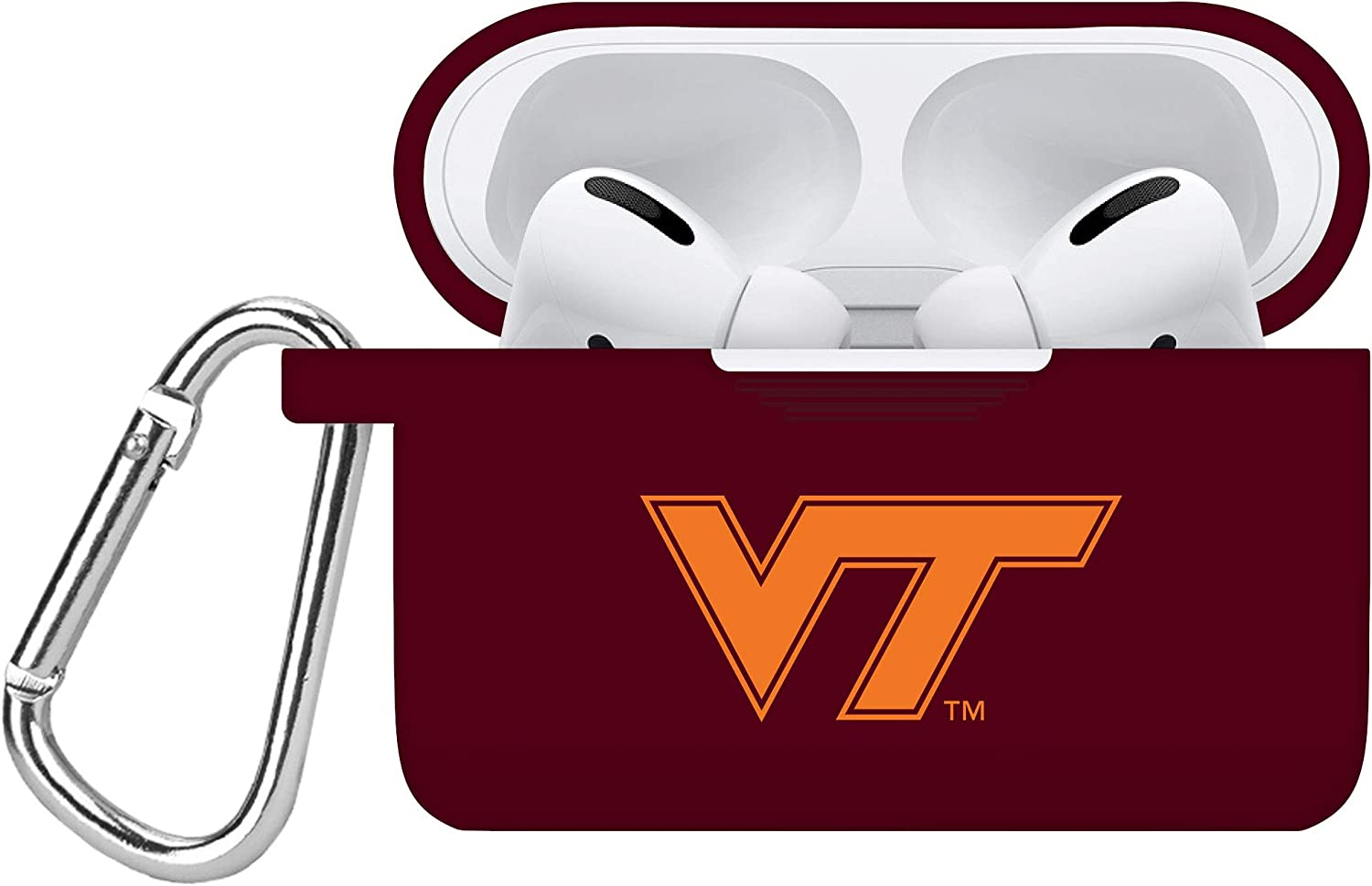 AFFINITY BANDS Virginia Tech Hokies Silicone Case Cover Compatible with Apple AirPods PRO Battery Case - Maroon