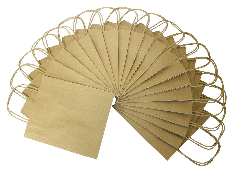 Natural 20 Piezas de Papel Bolsas de Papel Kraft 24 x 12 x 31 cm Folia 22410