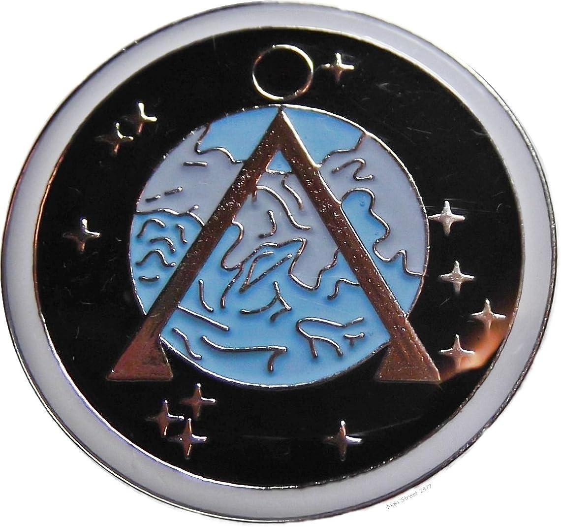 Main Street 24//7 Stargate Silver SG-1 Stargate Antique Finish Metal Necklace