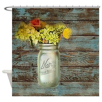 cafepress country mason jar flower shower curtain decorative fabric shower curtain