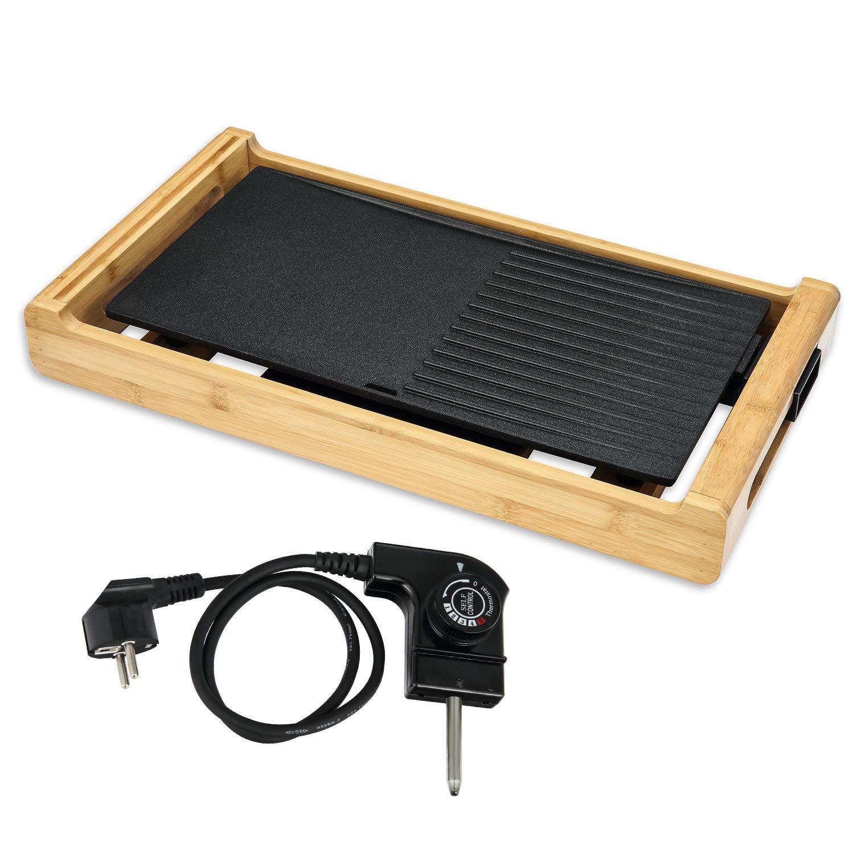 efluky Parrilla eléctrica, Plancha de Asar eléctrica, Paellera/Grill eléctrica Temperatura Ajustable, GD-4423, 1800W: Amazon.es: Hogar