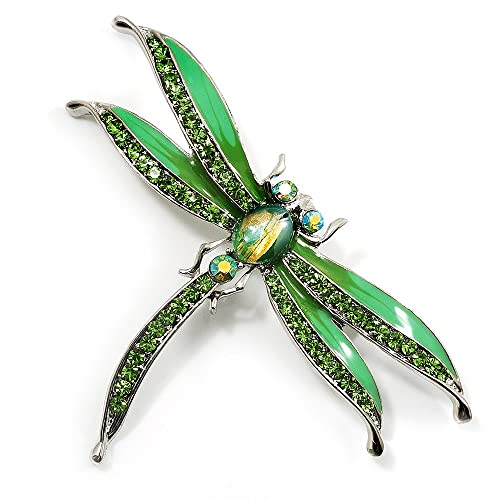 Salad Green Enamel Dragonfly Brooch b6vqJGlb