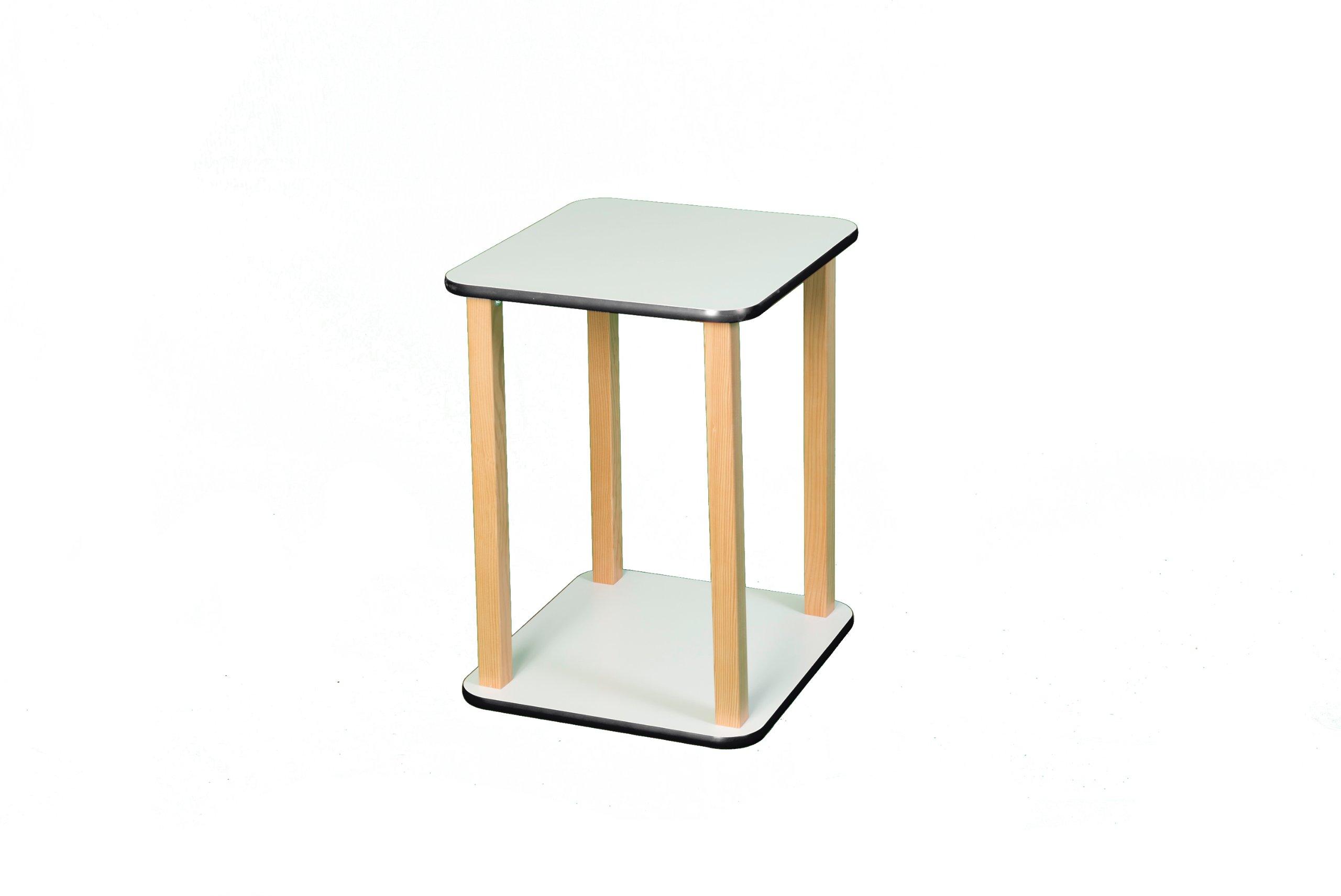 Wild Zoo Furniture CPU and Printer Stand, White/Black