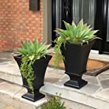 Vienna Planter 2-pack Made of High-grade Polyethylene (BLACK)