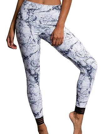 756e8f5af2439 Onzie Flow Ritz Midi Capri 2041 White Marble at Amazon Women's Clothing  store: