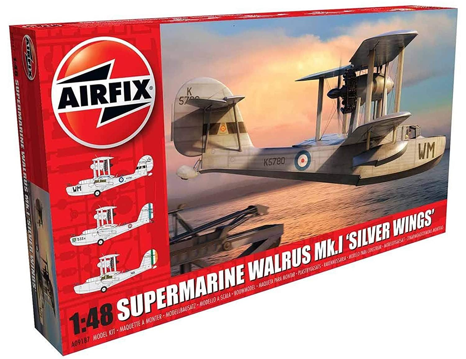 Amazon.com: Airfix Quickbuild Supermarine Walrus MK I Silver ...
