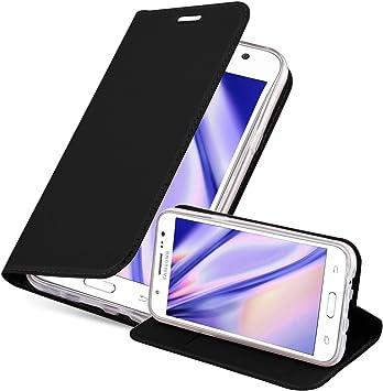 Cadorabo Funda Libro para Samsung Galaxy J5 2015 en Classy Negro ...