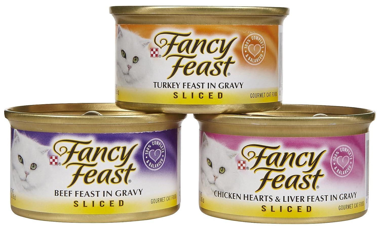 Fancy Feast Sliced Poultry & Beef Feast Variety Pack 12 x 3 oz by Fancy Feast