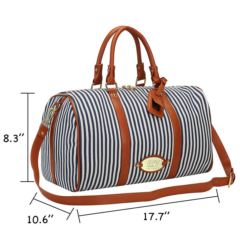 32918f829d8e Amazon.com | LXY Womens Overnight Weekender Travel Bag Canvas Duffle ...