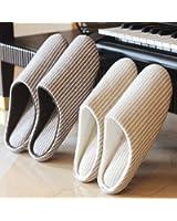 LoveBee(ラブビー)スリッパ 洗える 2足 セット 来客用 家族 カップル 衛生的 室内用 おしゃれ スリッパ トイレ お部屋 ルームシューズ 洗濯可