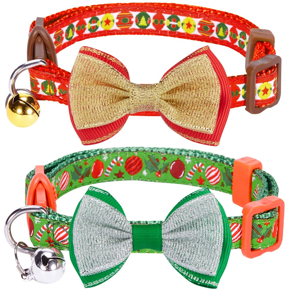 Blueberry Pet 3 Patterns Holiday Celebration Cat Collars