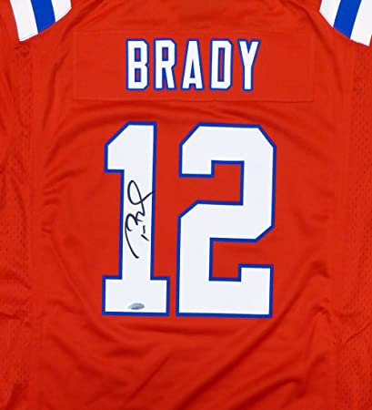 New England Patriots Tom Brady Autographed Red Nike Jersey Size L - TriStar  COA 0ab976884