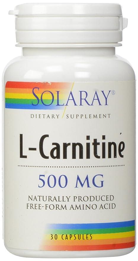carnitina capsulas 500mg solaray 30 capsulas