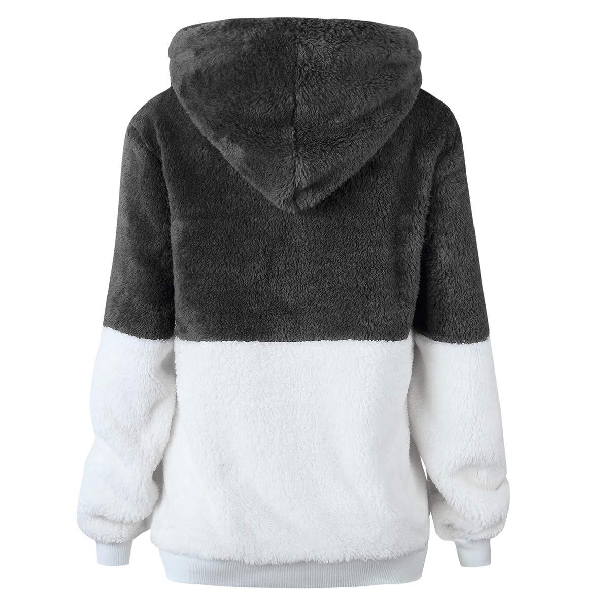 Amazon.com: Borlai - Sudadera con capucha para mujer, manga ...