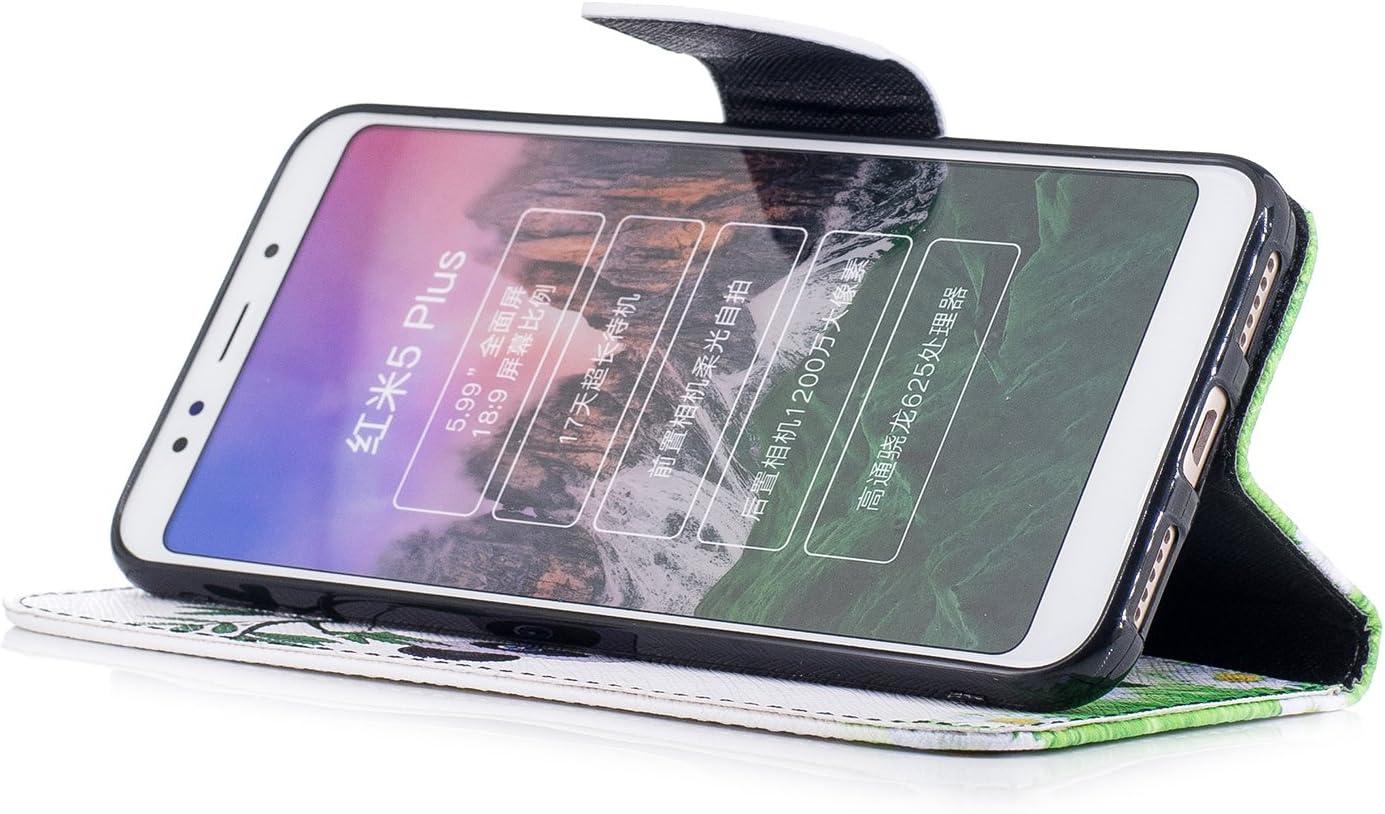 WindTeco Funda Xiaomi Redmi 5 Plus, 3D Panda Lindo y Bambú Patrón ...