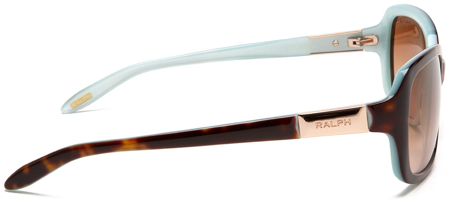 683ef953f388 Amazon.com: Ralph by Ralph Lauren Women's 0RA5130 601/1358 Rectangle  Sunglasses,Tortoise/Turquoise Inside Frame/Brown Gradient Lens,one size: Ralph  Lauren: ...