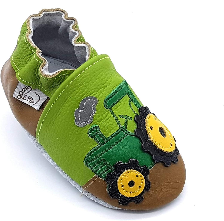 LePeppe - Zapatos Primeros Pasos de Cuero para niño Verde Verde
