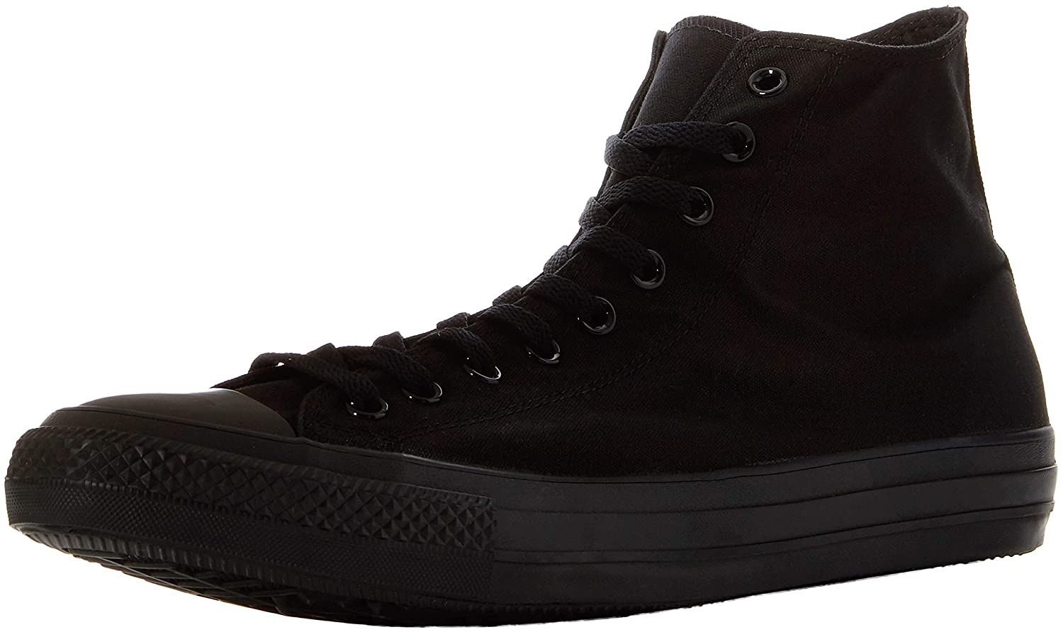 Black Monochrome Converse Women's Chuck Taylor All Star Leather High Top Sneaker