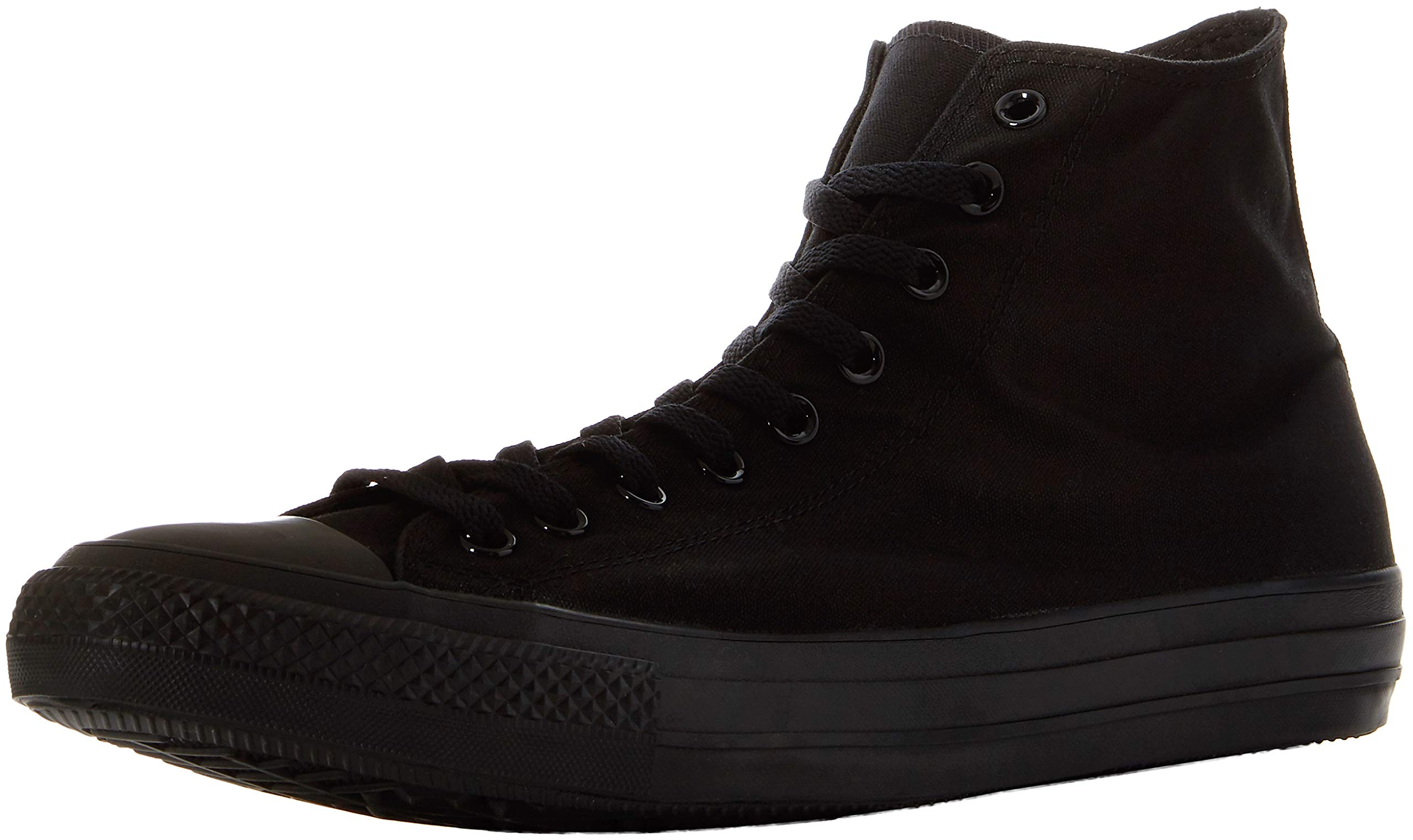 Converse Unisex All Star Leather Hi Sneaker,Black Monochrome,Men's 9.5 M/Women's 11.5 M by Converse
