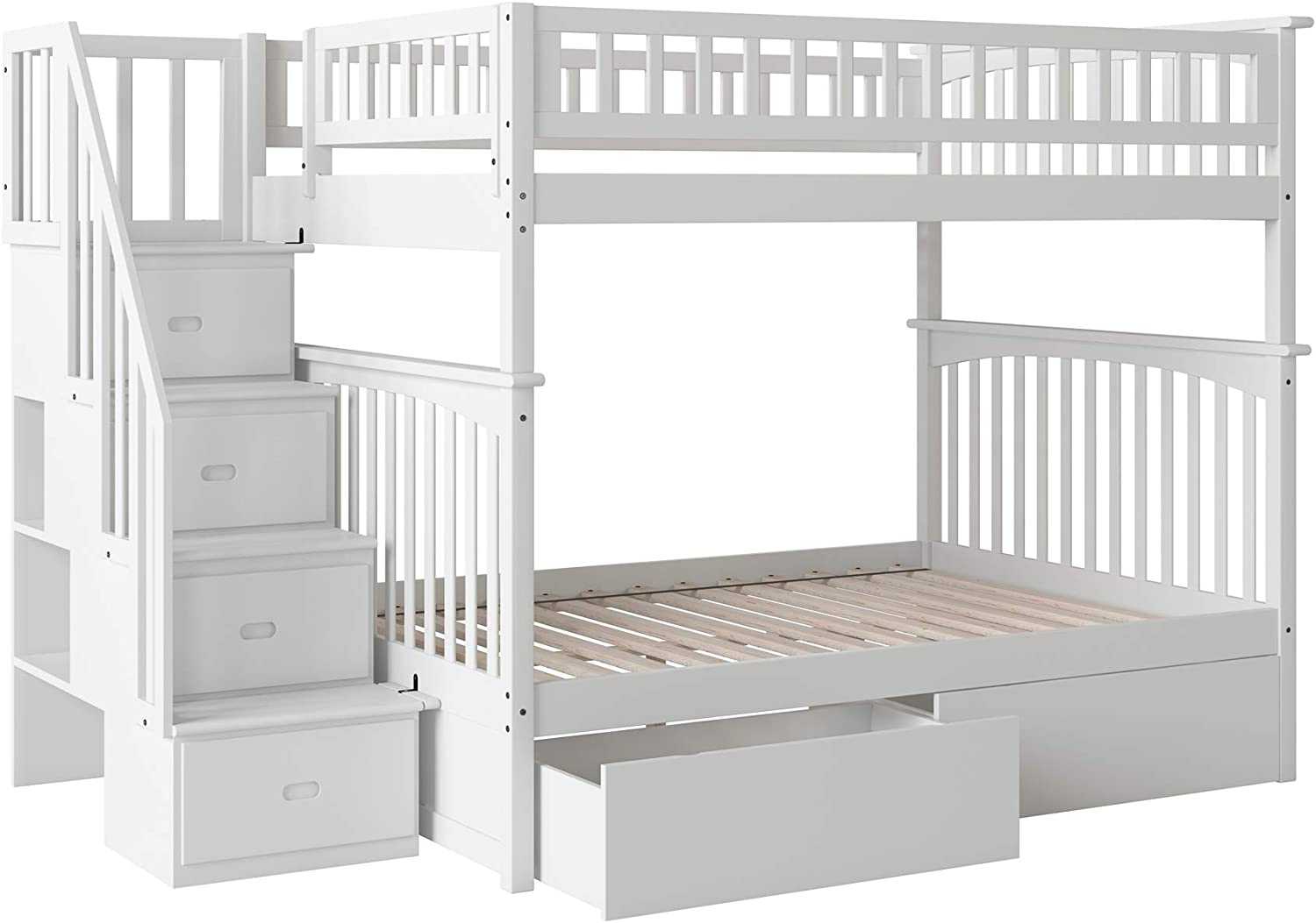 Atlantic Furniture Columbia - Litera para Escalera con cajones de Cama: Amazon.es: Juguetes y juegos