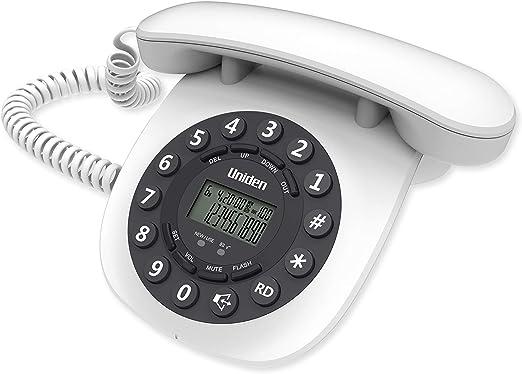 TELEFONO Fijo UNIDEN AT8601 Color Blanco. DISEÑO ELGANTE Y Ligero: Amazon.es: Electrónica