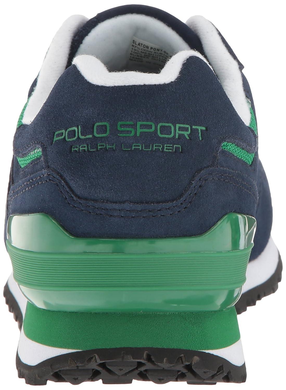 Polo Ralph Lauren Slaton Pony Fashion Sneaker - Azul y Verde (42.5 ...