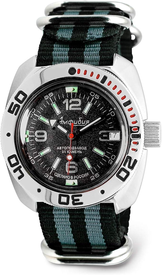 Amazon.com: VOSTOK | Classic Amphibian Automatic Self-Winding Russian Military Diver Wrist Watch | WR 200 m | Fashion | Business | Casual Men