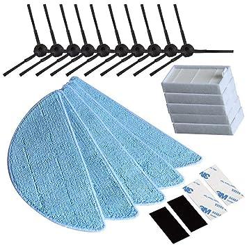 Queta Premium lado Cepillo Filtro HEPA Toalla Velcro Aspiradora de piezas de repuesto para ilife Robot
