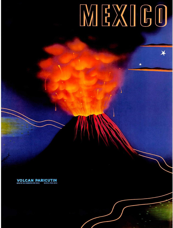 Amazon Com Vintage Travel Volcano Mexico New Fine Art Print