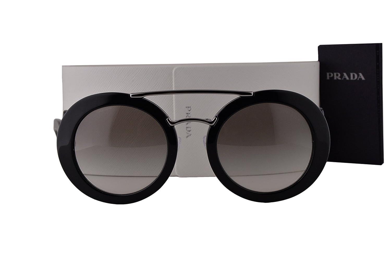 1f4003d17a Amazon.com  Prada PR13SS Sunglasses Black w Gray Gradient Lens 1AB0A7  SPR13S  Clothing