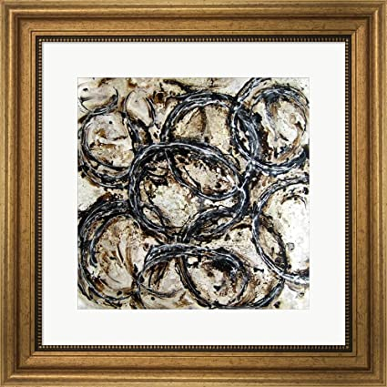 0c162cff0ee6 Amazon.com  Abstract Circles II Framed Art Print Wall Picture