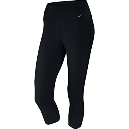 26c8666ba2488 Amazon.com: NIKE Women's Dri-FIT Training Capris, Black/Black/Cool Grey,  X-Small: Clothing
