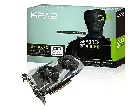 KFA2 GeForce GTX 1060 OC Tarjeta gráfica PCI-E Gaming Negro